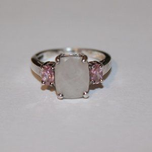 Ring sterling silver sz.6 pink stone
